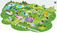 Карта пионер-лагеря